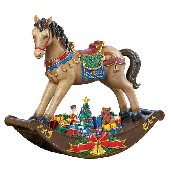 """LED Rocking Horse With Christmas Songs 19"""" (48cm)"""