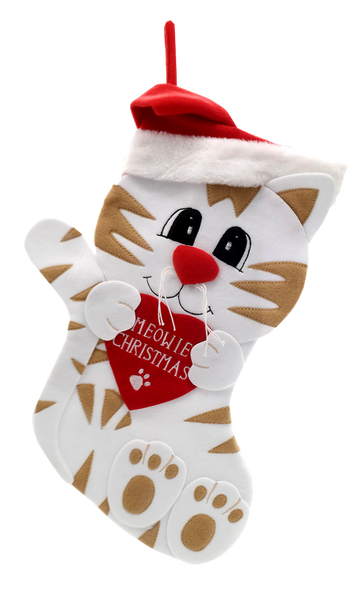 """Meowie Christmas"" Cat Christmas Stocking"