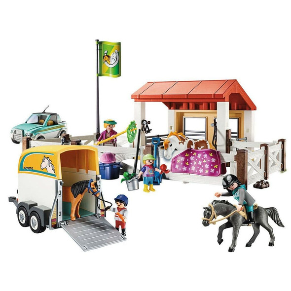 Playmobil 70325 'Country' Horse Farm with Trailer Play Figures & Vehicles