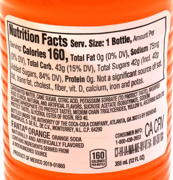 Imported Mexican Fanta Orange 4 x 355ml Glass Bottles