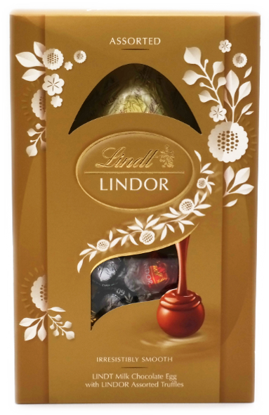 Lindt Lindor Milk Chocolate Easter Egg with Assorted Truffles 260g