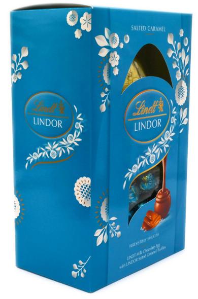 Lindt Lindor Milk Chocolate Easter Egg with Lindor Salted Caramel Truffles 260g
