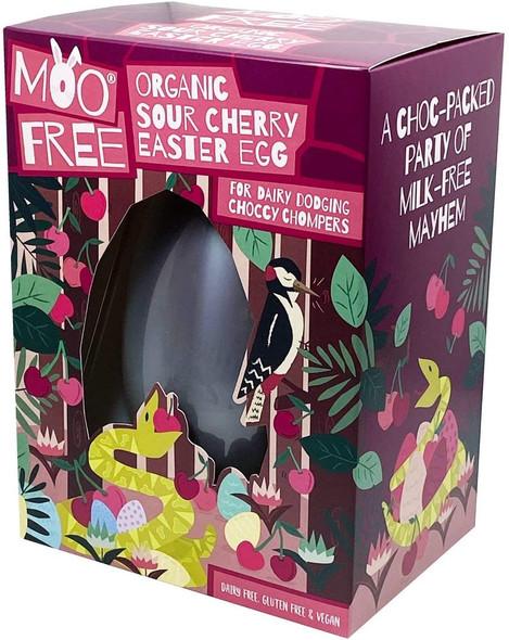 Moo Free Organic Sour Cherry Chocolate Easter Egg 140g