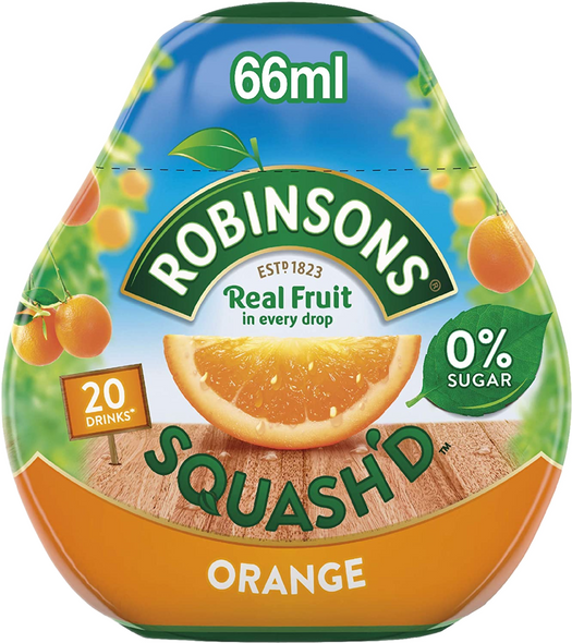 Robinsons Squash'D Orange Concentrate Makes 20 Drinks