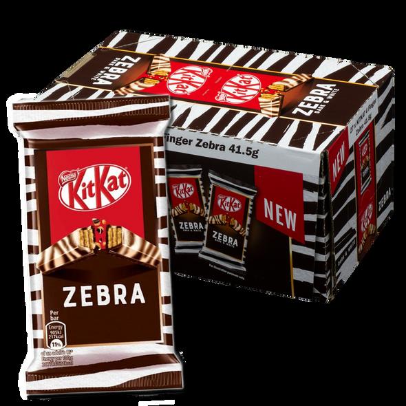 Nestle Kit Kat 4 Finger Zebra Dark & White