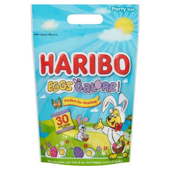 Haribo Eggs Galore Party Size Mini Bags 480G