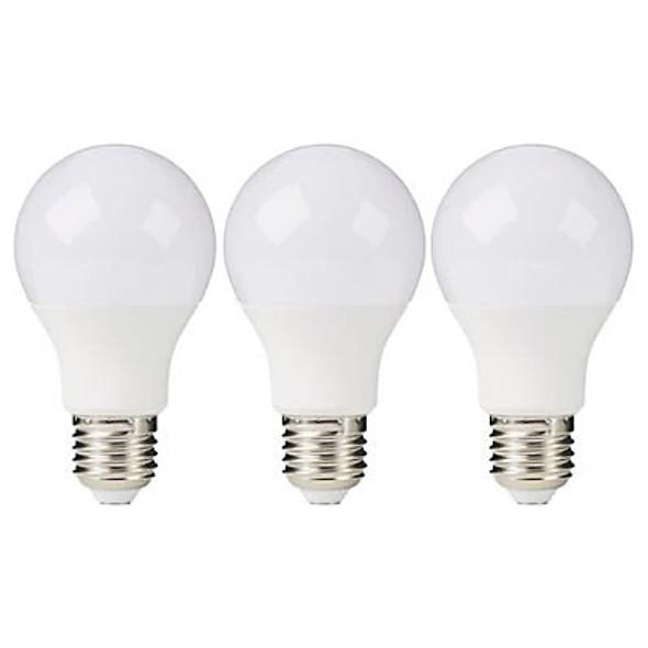 Diall E27 GLS LED Light bulb, Pack of 3 Warm White 2700K