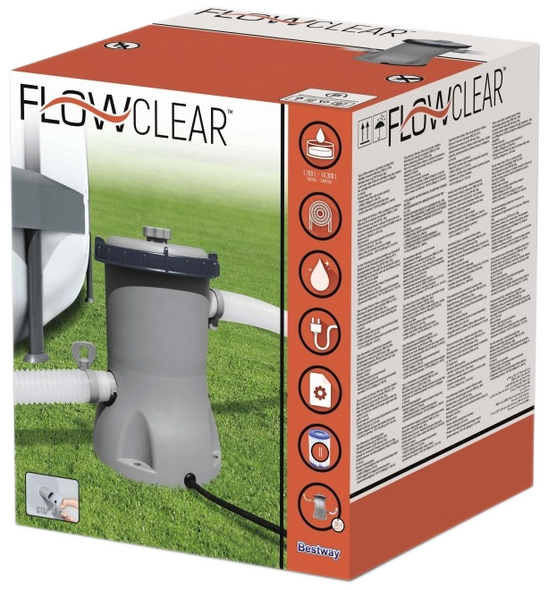 Bestway Flowclear Pool Filter Pump (2006 Litres/h 530 Gallon/h)  58383