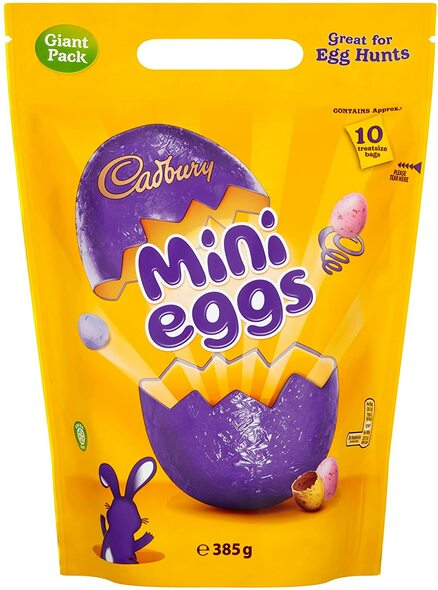 Cadbury Mini Eggs Chocolate Eggs Giant 10 x Mini Bags Sharing Pack 385g