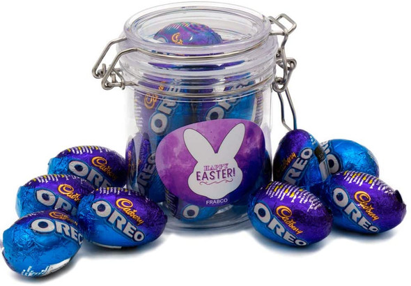 Easter Gift Jar Containing 248g of Milk Chocolate Eggs by Oreo