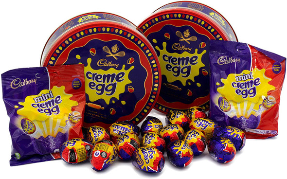 (2) Creme Egg Easter Gift Tins - Pack if Two x 409g Milk Chocolate Eggs