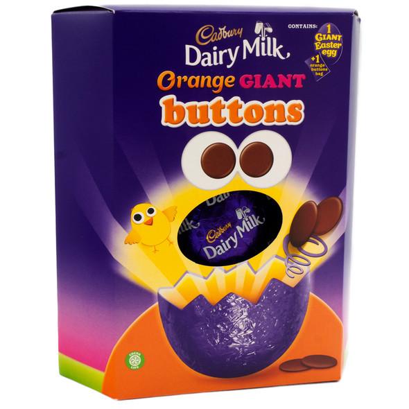 Cadbury Dairy Milk Orange Giant Buttons Easter Egg 410G