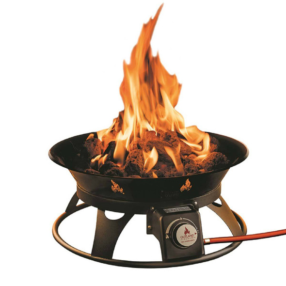 Outland Portable Propane Camp Firepit - Stainless Steel