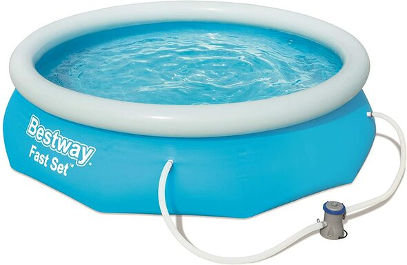 """Bestway Fast set 10"""" 3.05m PVC Swimming Pool with Filter Pump"""