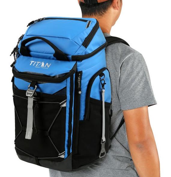 Titan Deep Freeze® 26 Can Backpack Cooler Blue