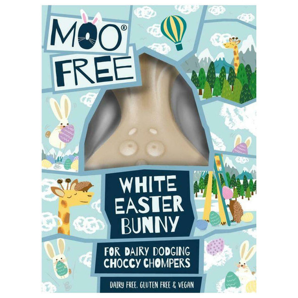 Moo Free Natural White Easter Bunny 80g