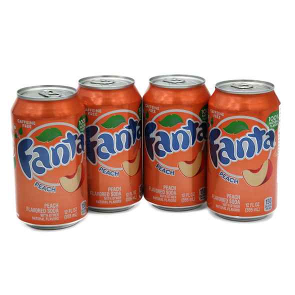 Peach Fanta 355ml x 4 Cans (US Import)