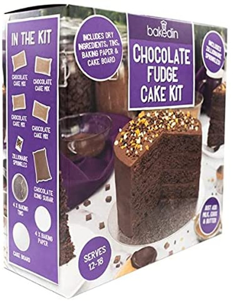 Chocolate Fudge Cake Kit Serves 12-18