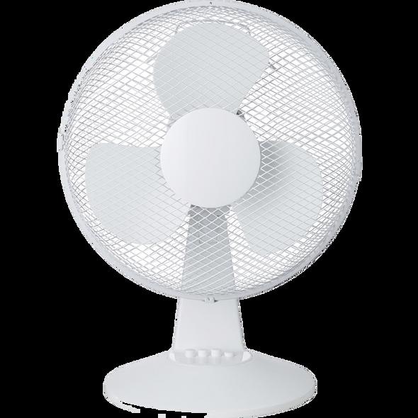 """12"""" Desk Fan Oscillating 3 Speed 30W"""