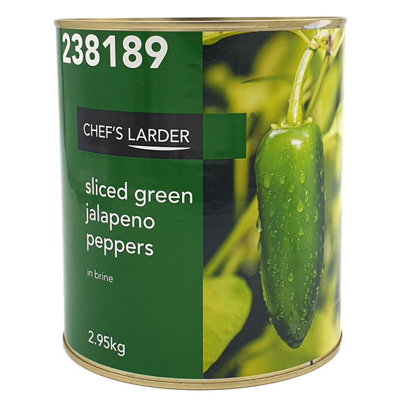 Sliced Green Jalapeno Peppers In Brine 2.95KG Can