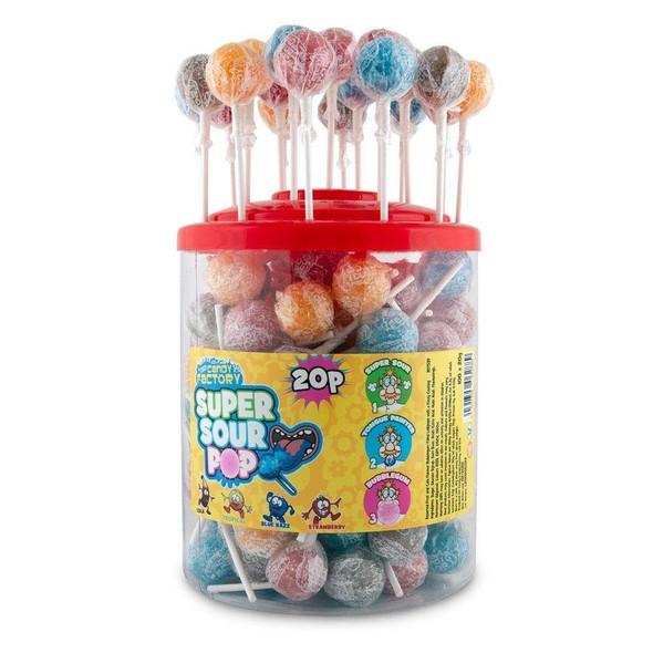 Crazy Candy Factory Super Sour Pops - 100