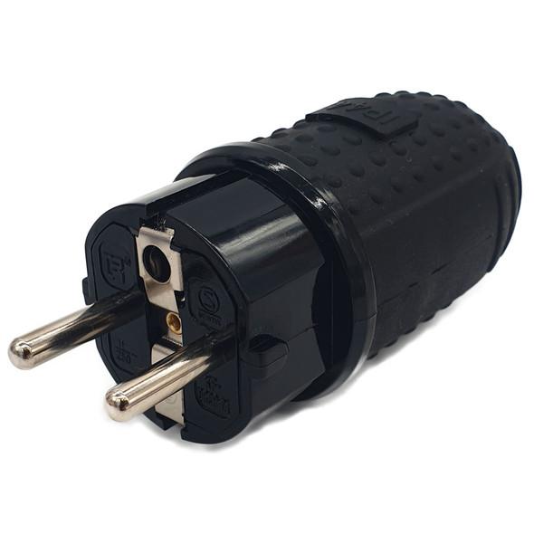 16A Type E/ F Schuko Plug, IP44 Heavy Duty Self Wire