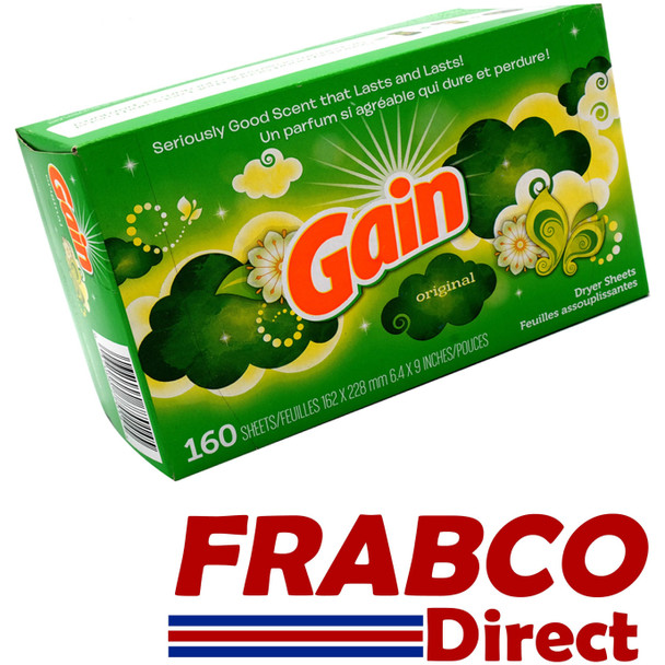 Gain 160 Tumble Dryer Fabric Softener Sheets US Import