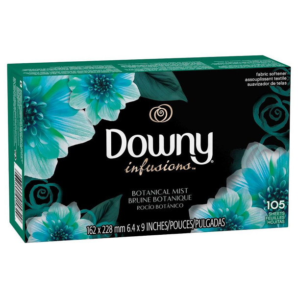Downy Infusions Botanical Mist Fabric Softener Sheets 105