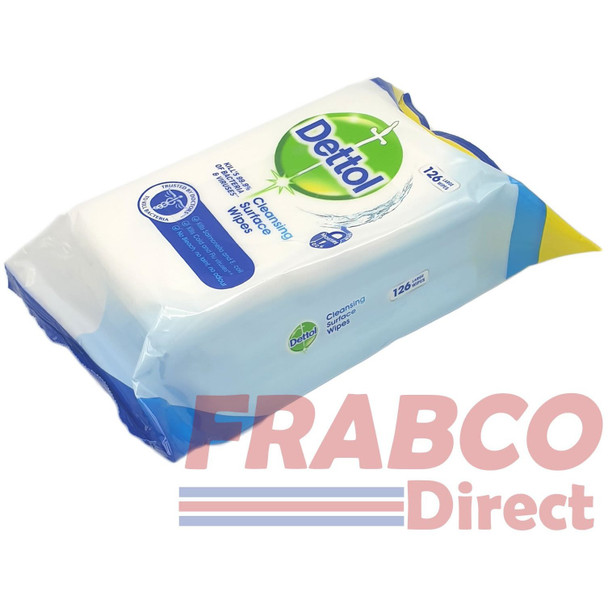 Dettol Cleaning Surface Wipes 126 Large Wipes