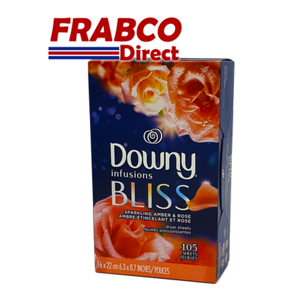 Downy Infusions Bliss Sparkling Amber & Rose 105 Fabric Softener Sheets