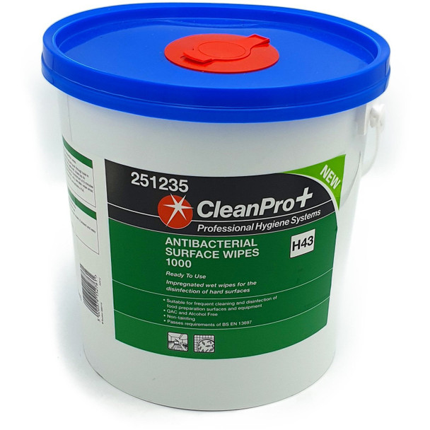 Clean Pro+ Antibacterial Surface Wipes H43 1000 Wipes