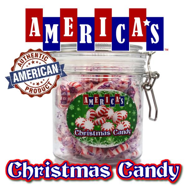 America's Christmas Candy Gift Jar