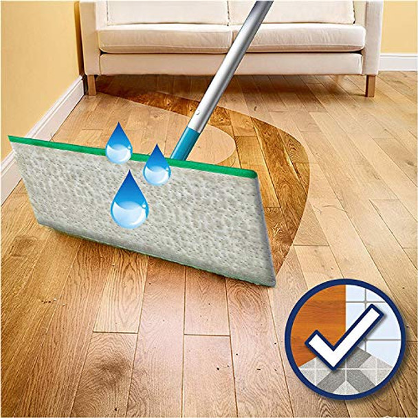 Flash SpeedMop Giga Pack - Mop + 60 Wet Mop Refills for all Floor