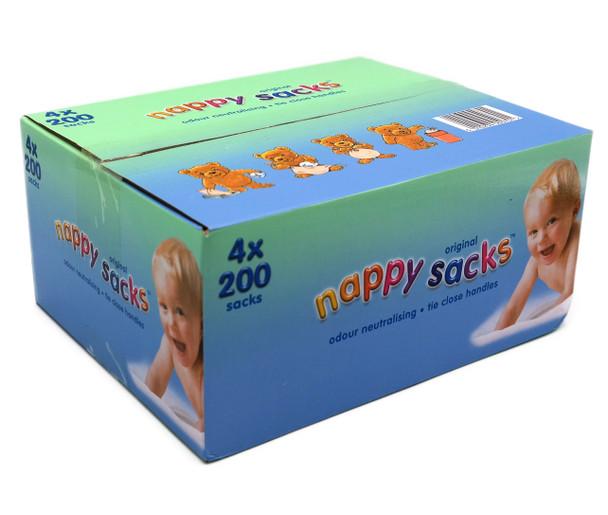 Original Nappy Sacks 4 Resealable Packs of 200