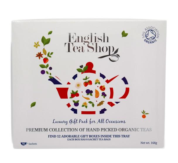 English Tea Shop Organic Luxury Gift Tray Tea Bags, Pack of 96