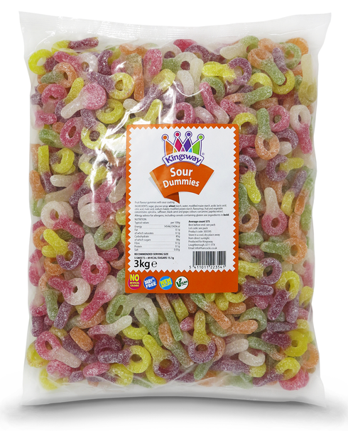 Kingsway Pick N Mix Refill Bag Sour Dummies – Wedding / Party Bag 3kg