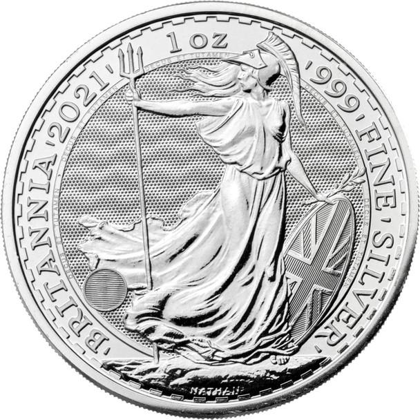 2021 Britannia One Ounce Silver Bullion Coin