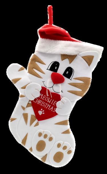 """Meowie Christmas"" Cat Christmas Stocking"