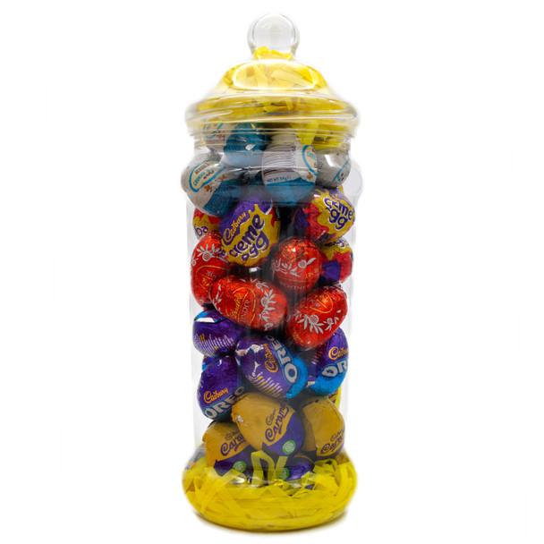 Exclusive Mixed Creme Egg Selection Mega Jar 1432g with Lindor