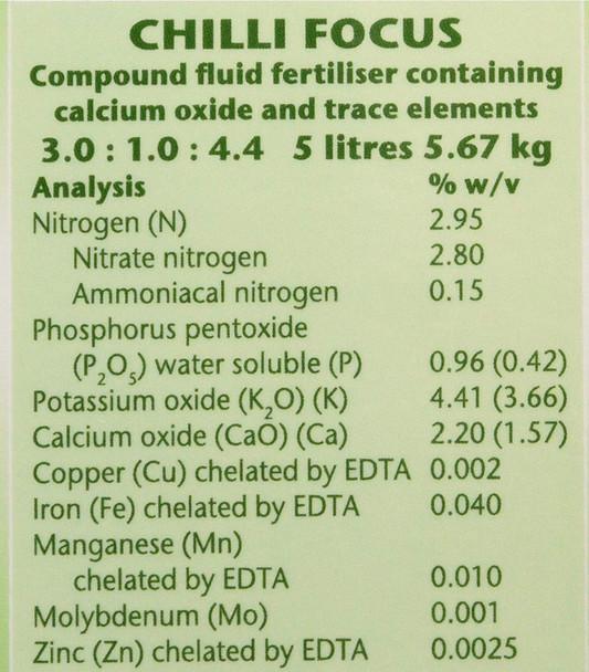 Chilli Focus Premium Liquid Concentrated Fertiliser 5 Litre details