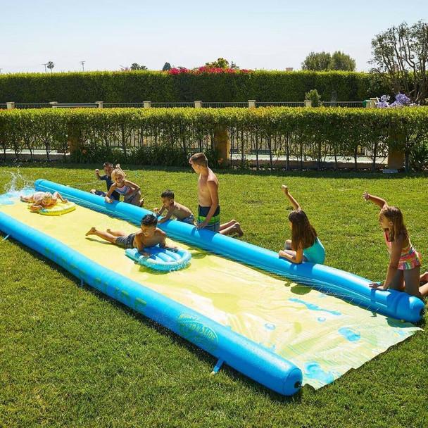 WHAM-O Super Slip n Slide Garden Water Slide with 2 Inflatable Boards