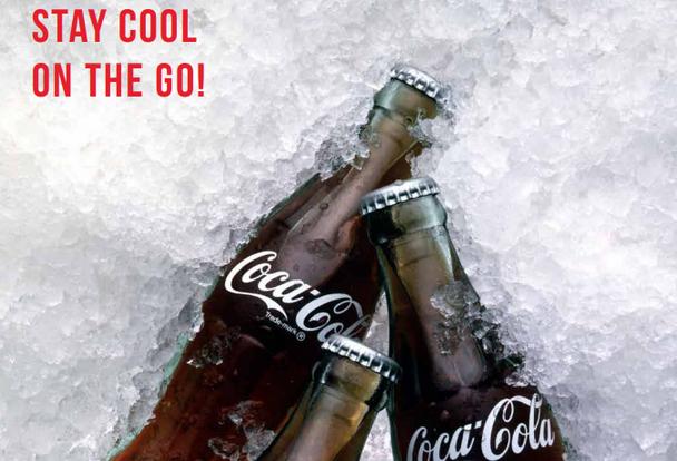 Coca Cola branded electric cool box