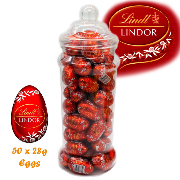 Gift Jar Containing 48 Lindor 28g Eggs