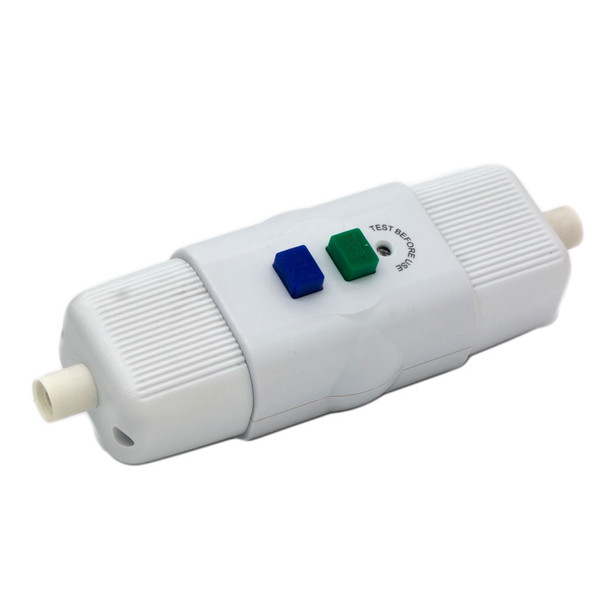 IP54 230/250v In-Line RCD Unit (White) Self Wire