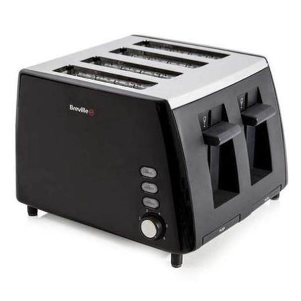 Breville  VTT464 Black and Stainless Steel 4 Slice Toaster (slight outer box damage)