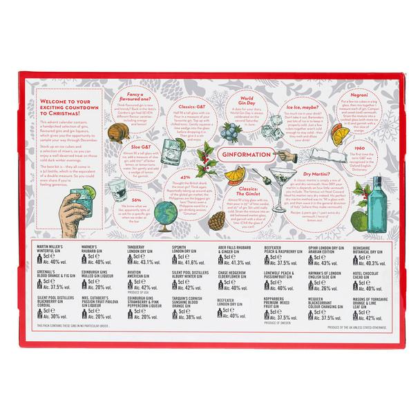 Top Brands Gin Advent Calendar 24 Brand Name Gins