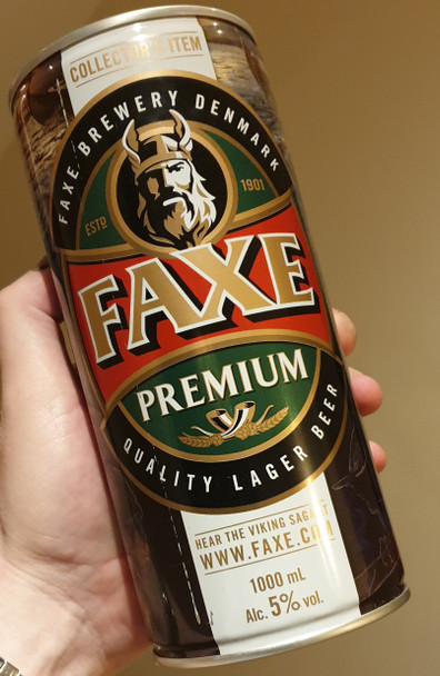 Giant Mega Can Faxe Premium Lager Beer