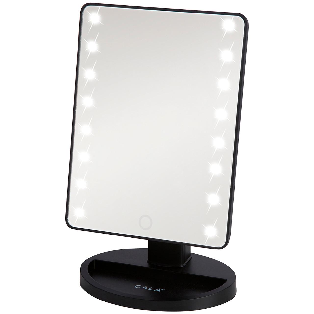 Led Vanity Mirror Black Cala Products