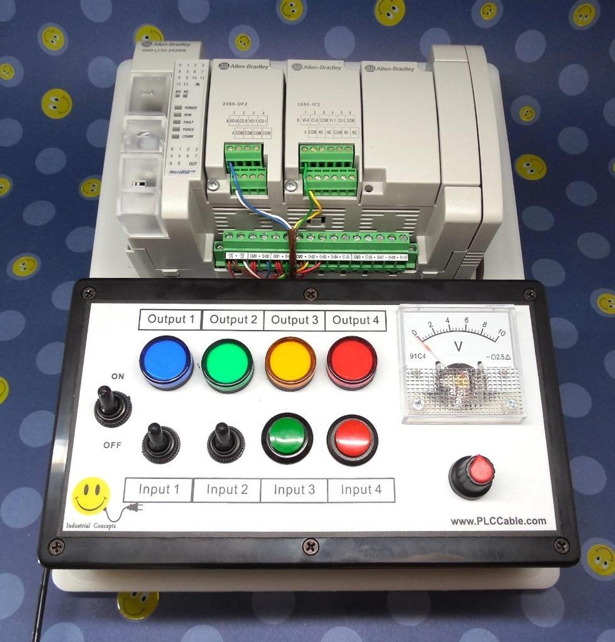 PLC Cables, Inc Allen Bradley Micro850 Programmable CCW PLC Trainer Micro800 Training Kit Ethernet
