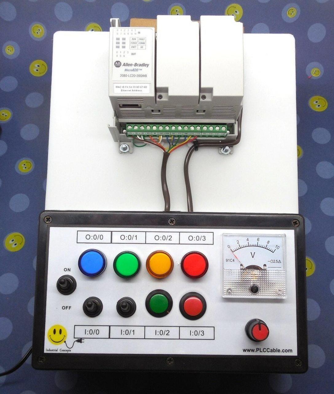 PLC Cables, Inc Allen-Bradley Micro820 Analog CCW PLC Trainer Micro800 Training Kit